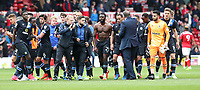 Blackburn Rovers applaud their fans at the end of the match<br /> <br /> Photographer Rachel Holborn/CameraSport<br /> <br /> The EFL Sky Bet Championship - Nottingham Forest v Blackburn Rovers - Friday 14th April 2016 - The City Ground - Nottingham<br /> <br /> World Copyright &copy; 2017 CameraSport. All rights reserved. 43 Linden Ave. Countesthorpe. Leicester. England. LE8 5PG - Tel: +44 (0) 116 277 4147 - admin@camerasport.com - www.camerasport.com