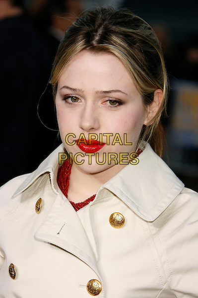 "MAJANDRA DELFINO .""The Reaping"" Los Angeles Premiere held at Mann's Village Theatre, Hollywood, California, USA..March 29th, 2007.headshot portrait red lipstick .CAP/ADM/RE.©Russ Elliot/AdMedia/Capital Pictures"
