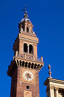 Italien, Piemont, Torre Civica und S.Stefano in Casale Monferrato