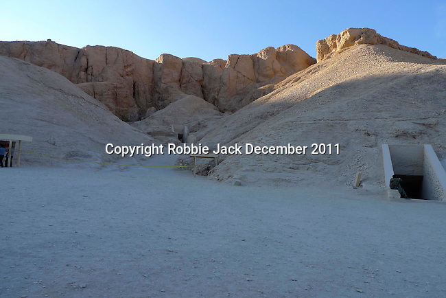 Tombs in the Valley of the Kings at Thebes.Thebes is the name the Greeks gave to Waset, the ancient capital of Egypt.