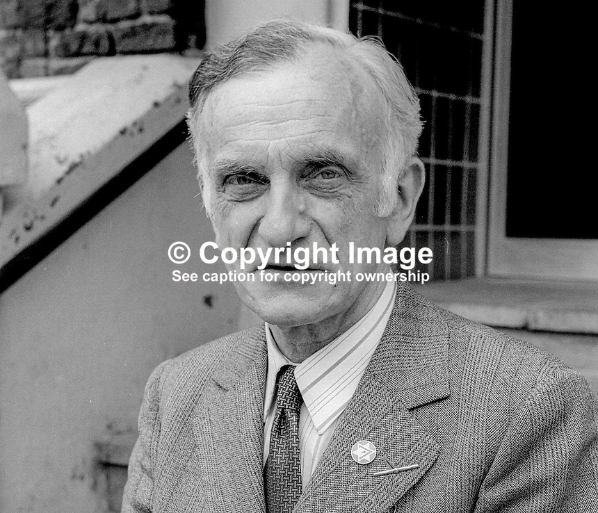Dr Thomas Carson, candidate, VUUP, N Ireland Assembly Election, June, 1973, 197306000469<br />