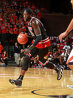 Louisville forward Montrezl Harrell (24) during an NCAA basketball game Saturday Feb. 7, 2015, in Charlottesville, Va. Virginia defeated Louisville  52-47. (Photo/Andrew Shurtleff)