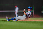 30 April 2017: New York Mets outfielder Jay Bruce slides safely into second with a double in the 7th inning against the Washington Nationals at Nationals Park in Washington, DC. The Nationals defeated the Mets 23-5 in the third game of their weekend series. Mandatory Credit: Ed Wolfstein Photo *** RAW (NEF) Image File Available ***