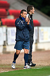 St Johnstone v Inverness Caley Thistle...15.10.11   SPL Week 11.Derek McInnes applauds.Picture by Graeme Hart..Copyright Perthshire Picture Agency.Tel: 01738 623350  Mobile: 07990 594431