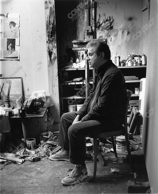 Painter Francis Bacon in his studio, London, Great Britain, 1982