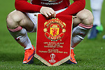 Wayne Rooney of Manchester United holds the club pennant during the UEFA Europa League match at Old Trafford, Manchester. Picture date: November 24th 2016. Pic Matt McNulty/Sportimage