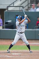 Carlos Garcia (7) of the Wilmington Blue Rocks at bat against the Winston-Salem Dash at BB&T Ballpark on June 10, 2015 in Winston-Salem, North Carolina.  The Blue Rocks defeated the Dash 11-5.  (Brian Westerholt/Four Seam Images)