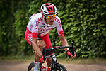 Tour debutant Stéphane Rossetto (FRA) Cofidis attacks alone with 40km to go during Stage 1 of the 2019 Tour de France running 194.5km from Brussels to Brussels, Belgium. 6th July 2019.<br /> Picture: ASO/Alex Broadway | Cyclefile<br /> All photos usage must carry mandatory copyright credit (© Cyclefile | ASO/Alex Broadway)