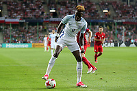 Tammy Abraham of England during England Under-21 vs Poland Under-21, UEFA European Under-21 Championship Football at The Kolporter Arena on 22nd June 2017