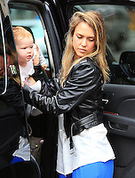 Jessica Alba in New York City with baby Haven Warren