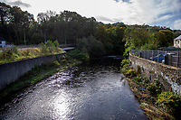 Pictured: A general view of the River Taff next to A4054 that police have been searching in Trelewis, South Glamorgan, Rhondda Cynon Taff, Wales, UK.<br /> Re: A search of mountains and waterways is taking place after  22 year old Brooke Morris went missing following a night out.<br /> Brooke, from Trelewis near Merthyr Tydfil, disappeared after being given a lift home from the town centre in the early hours of Saturday.<br /> South Wales Police believe the Nelson RFC player did not go inside her house.<br /> Officers are continuing to search for Ms Morris following efforts by mountain rescue teams on Sunday.<br /> Ms Morris was last seen at about 2.30am on Saturday wearing a long-sleeved red top and jeans.
