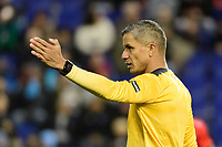 HARRISON, NJ - FEBRUARY 26: Referee John Pitti during a game between AD San Carlos and NYCFC at Red Bull on February 26, 2020 in Harrison, New Jersey.