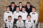 6208- 6211.ROSE ESCORTS: Young Escorts who escorted the Kerry Roses on stage at the Kerry Rose Selection at The Earl of Desmond Hotel, Tralee, on Friday night. Front l-r: Jimmy O'Riordan, Padraig O'Shea and Tomas OShea. Centre l-r: Mickey Crowley, Maurice OKeeffe, Sean Hannifin and David Geaney. Back l-r: Eric Heaslip, Enda Jordan and Eoin Heaphy..