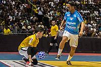SÃO PAULO, SP, 09.12.2018 – LEGENDS GAME – Ronaldinho Gaúcho, durante partida  Legens game, disputada no Ginásio do Ibirapuera em São Paulo, neste domingo, 09.(Foto: Danilo Fernandes/Brazil Photo Press)