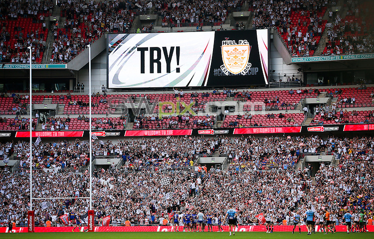 Picture by Alex Whitehead/SWpix.com - 27/08/2016 - Rugby League - Ladbrokes Challenge Cup Final - Hull FC v Warrington Wolves - Wembley Stadium, London, England - Hull FC celebrate a try.