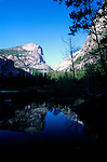 Half Dome reflected in Mirror Lake, Yosemite National Park, California USA