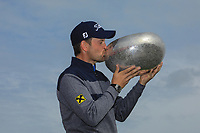 Bernd Wiesberger (AUT) poses with the trophy after the final round of the Made in Denmark presented by Freja, played at Himmerland Golf & Spa Resort, Aalborg, Denmark. 26/05/2019<br /> Picture: Golffile   Phil Inglis<br /> <br /> <br /> All photo usage must carry mandatory copyright credit (© Golffile   Phil Inglis)