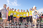 Wicklow Rose Sarah Whelan, Arizona Rose Holly Nordquist, Alana Marshall, Suzan O'Gara, Will Nolan, Niamh Sherlock, Elizabeth Spellman, Sean Flanagan, Danielle Ybarra and Brid Ryan, Clare Rose Marie Donnellan and Newfoundland & Labrador Rose Erica Halfyard pictured at the Rose of Tralee International 10k Race in Tralee on Sunday.