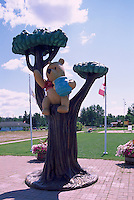 Winnie-the-Pooh Sculpture, along Trans Canada Highway (Hwy 17), White River, ON, Ontario, Canada