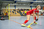 Mannheim, Germany, January 12: During the 1. Bundesliga women indoor hockey match between Mannheimer HC and Ruesselsheimer RK on January 12, 2020 at Irma-Roechling-Halle, Am Neckarkanal in Mannheim, Germany. Final score 5-4. (Photo by Dirk Markgraf / www.265-images.com) ***