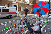 The media wait outside of St. Mary's hospital for Kate's baby - London