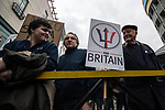© Joel Goodman - 07973 332324. 24/03/2018. Birmingham, UK. Supporters of the For Britain party march to Birmingham City Centre at a Football Lads Alliance demonstration against Islam and extremism . Offshoot group, The True Democratic Football Lads Alliance, also hold a separate demonstration . Photo credit : Joel Goodman