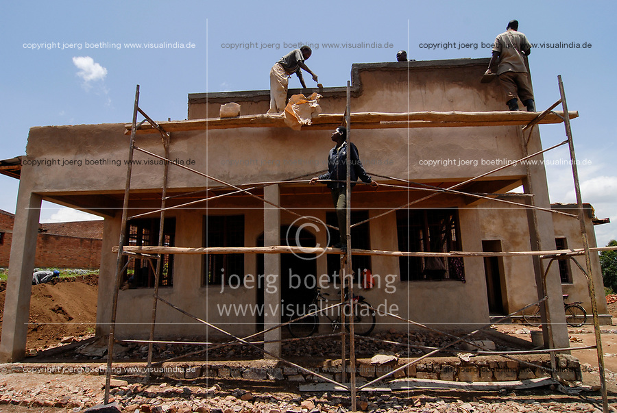RWANDA, Byumba , construction of new house