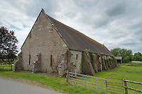 The Tithe Barn, Hartpury, Gloucestershire. Measuring 161ft by 36 ft it is one of the largest in the country.