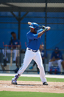 GCL Blue Jays right fielder Joseph Reyes (24) at bat during a game against the GCL Pirates on July 20, 2017 at Bobby Mattick Training Center at Englebert Complex in Dunedin, Florida.  GCL Pirates defeated the GCL Blue Jays 11-6 in eleven innings.  (Mike Janes/Four Seam Images)