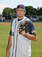2007:  Matt Foust of the State College Spikes poses for a photo prior to a game vs. the Batavia Muckdogs in New York-Penn League baseball action.  Photo By Mike Janes/Four Seam Images
