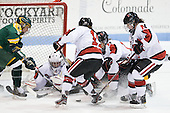 Carly Mercer (Clarkson - 15), Chloe Desjardins (Northeastern - 29), Juana Baribeau (Clarkson - 25), Rachel Llanes (Northeastern - 11), Sonia St. Martin (Northeastern - 12), Colleen Murphy (Northeastern - 10). - The Northeastern University Huskies defeated the visiting Clarkson University Golden Knights 5-2 on Thursday, January 5, 2012, at Matthews Arena in Boston, Massachusetts.