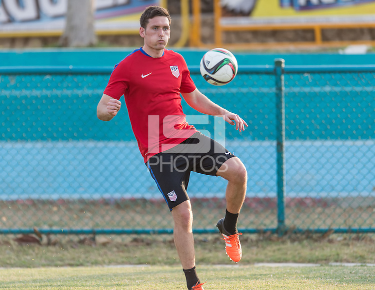 BARRANQUILLA, COLOMBIA - March 23, 2016: The US U-23 Men's National team training day for Colombia match in Barranquilla, Colombia.