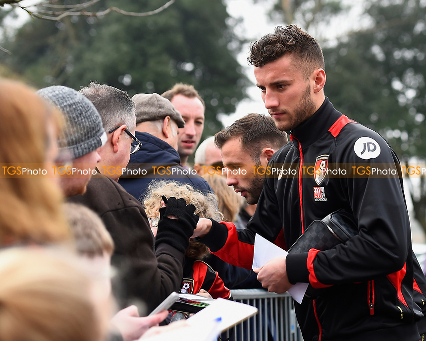 Baily Cargill and Steve Cook of AFC Bournemouth sign autographs  during AFC Bournemouth vs West Ham United, Premier League Football at the Vitality Stadium on 11th March 2017