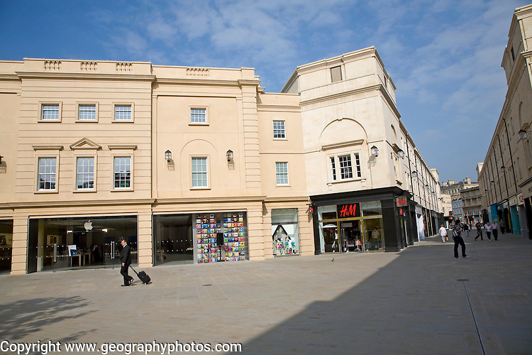 New Neo-Georgian buildings, Southgate shopping centre, Bath