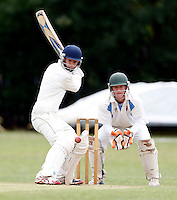 Jordan Bethel bats for Brondesbury during the Middlesex Cricket League Division Two game between Brondesbury and Wembley at Harman Drive, London on Sat Aug 1, 2015
