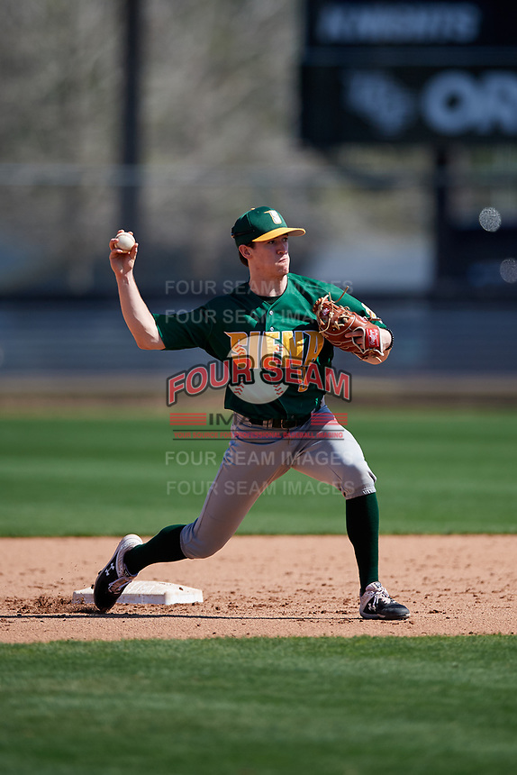 Siena Saints second baseman Eric Havner (9) during practice before a game against the UCF Knights on February 17, 2019 at John Euliano Park in Orlando, Florida.  UCF defeated Siena 7-1.  (Mike Janes/Four Seam Images)