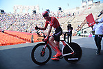 Chad Haga (USA) Team Sunweb wins Stage 21 the final stage of the 2019 Giro d'Italia, an individual time trial running 17km from Verona to Verona, Italy. 2nd June 2019<br /> Picture: Gian Mattia D'Alberto/LaPresse | Cyclefile<br /> <br /> All photos usage must carry mandatory copyright credit (© Cyclefile | Gian Mattia D'Alberto/LaPresse)