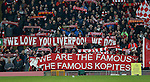 Fans and Banners on the Kop during the Premier League match at the Anfield Stadium, Liverpool. Picture date: November 26th, 2016. Pic Simon Bellis/Sportimage