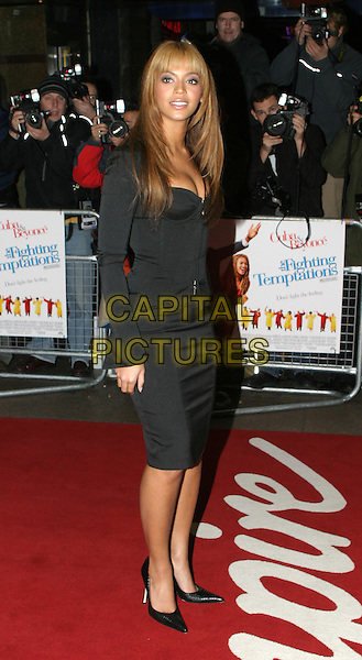 BEYONCE KNOWLES.The Fighting Temptations UK charity premiere.full length, full-length, little black corset dress, stilettos, heels, shoes.www.capitalpictures.com.sales@capitalpictures.com.© Capital Pictures.