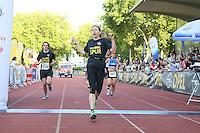 Frauke Pfeffer gewinnt die Damenkonkurrenz - 4. OPEL Firmenlauf, Stadion am Sommerdamm