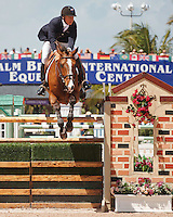 Urico ridden by Mario Deslauriers,  USEF trials#2 Wellington Florida. 3-22-2012