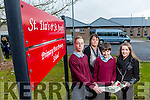 St Itas and St Josephs School New Classroom plans with Money from the Ring of Kerry Cycle. Pictured Sean Nolan, Eileen Walsh, Acting Vice Principal, Josh Delaney and Maura Long, Co-Ordinator