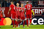 September 12th 2017, Munich, Germany, Champions League football, Bayern Munich versus Anderlecht;  Joshua Klimmich of Bayern Munchen celebrates