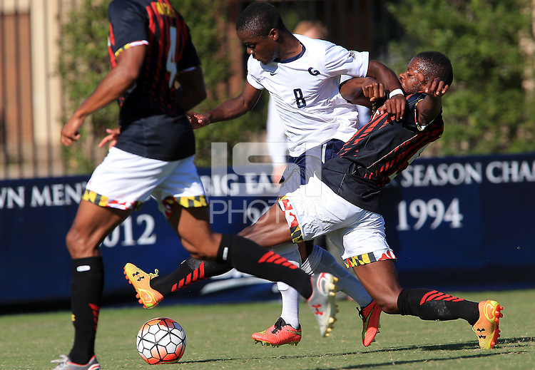 Washington, D.C. - Wednesday, September 23, 2015: Georgetown University defeated the University of Maryland 2-1 in a NCAA soccer match at Shaw Field.