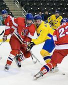 Oldrich Horak (Czech Republic - 4), Martin Karlsson (Sweden - 11) - Sweden defeated the Czech Republic 4-2 at the Urban Plains Center in Fargo, North Dakota, on Saturday, April 18, 2009, in their final match of the 2009 World Under 18 Championship.
