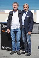 Actors Daniel Fanego and Imanol Arias pose during `Eva no duerme´ film presentation at 63rd Donostia Zinemaldia (San Sebastian International Film Festival) in San Sebastian, Spain. September XX, 2015. (ALTERPHOTOS/Victor Blanco) /NortePhoto.com