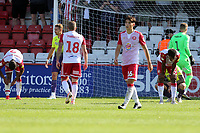 Despondent Stevenage players after Stevenage vs Exeter City, Sky Bet EFL League 2 Football at the Lamex Stadium on 10th August 2019