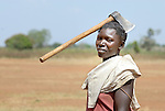A woman in the Nam-Okora camp for internally displaced persons in northern Uganda. .