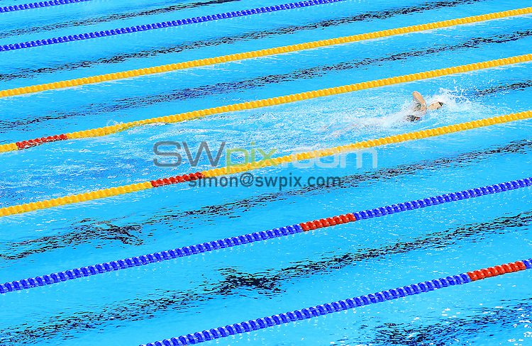 RIO DE JANEIRO, BRAZIL - AUGUST 11:  Katie Ledecky of the USA competes in the Women's 800m Freestyle Heats on Day 6 of the Rio 2016 Olympic Games at the Olympic Aquatics Stadium on August 11, 2016 in Rio de Janerio, Brazil.  (Photo by Vaughn Ridley/SWpix.com)