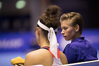Rotterdam, Netherlands, December 16, 2017, Topsportcentrum, Ned. Loterij NK Tennis, Womans double final: Rosalie van der Hoek (NED) and Demi Schuurs (NED) (R)<br /> Photo: Tennisimages/Henk Koster